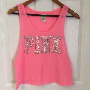 PINK Bling Muscle Tank